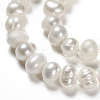 Grade A Natural Cultured Freshwater Pearl Beads StrandsX-SPPA001Y-1-4