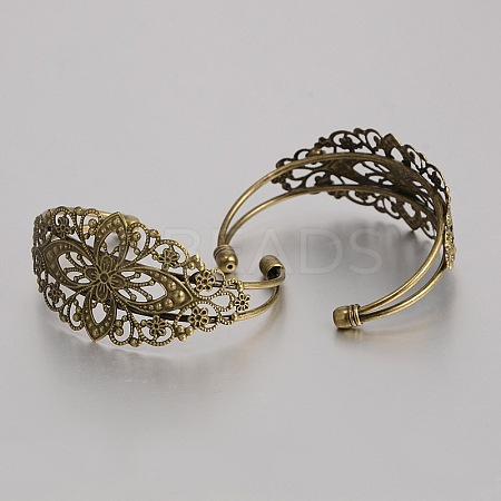 Brass Cuff Bangle MakingsKK-J184-56AB-NF-1