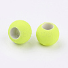 Rubber Style Neon Glass Round BeadsX-DGLA-R024-18mm-1-2