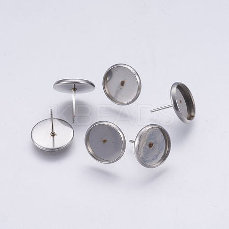 Stainless Steel Stud Earring SettingsSTAS-XCP0001-03P-1