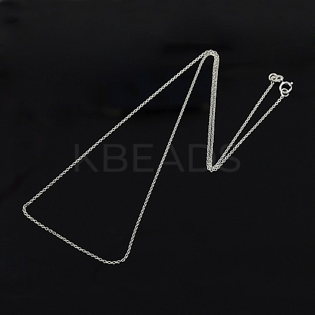 Trendy Unisex Sterling Silver Cable Chains NecklacesSTER-M034-B-07-1