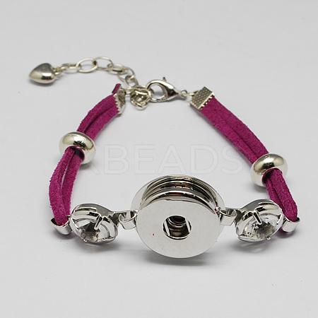 Faux Suede Snap Bracelet MakingsX-BJEW-R175-07-1