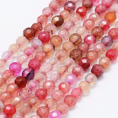 Natural Agate Beads StrandsX-G-E469-12F-1