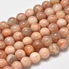 Round Natural Sunstone Beads Strands G-I176-09-8mm-1