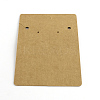 Rectangle Shape Cardboard Earring Display CardsX-CDIS-Q001-42-2