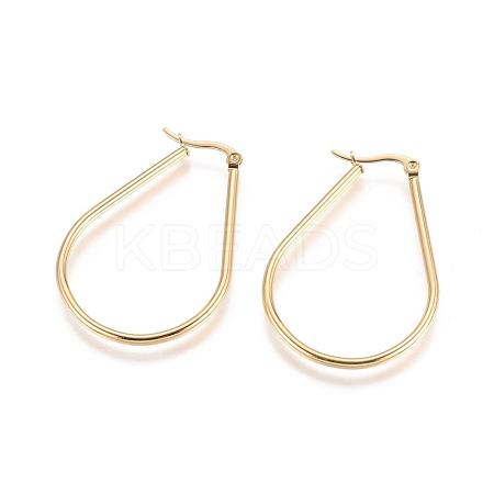 304 Stainless Steel Hoop EarringsX-EJEW-L222-13G-1