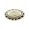 Tibetan Style Alloy Apetalous Oval Bead CapsX-TIBE-0548-AS-FF-1