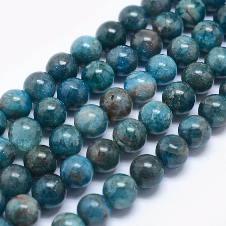 Natural Apatite Beads X-G-E481-05-8mm-1