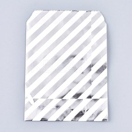 Diagonal Stripe Pattern Environmental Paper BagsAJEW-M207-F01-02-1