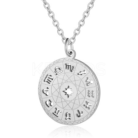 201 Stainless Steel Pendant Necklaces NJEW-T009-JN139-40-1-1