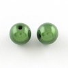 Spray Painted Miracle Acrylic Round Beads MACR-Q154-18mm-010-2