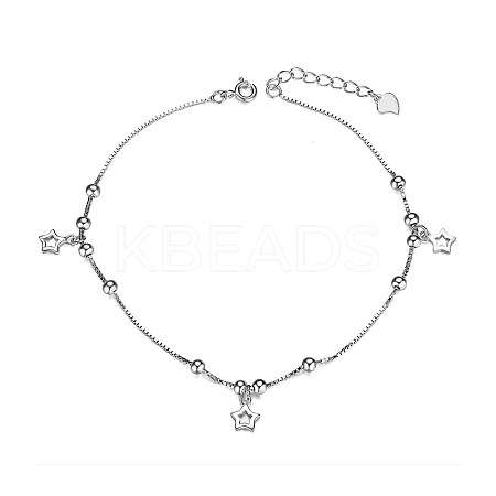 SHEGRACE® 925 Sterling Silver AnkletJA23A-1