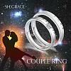 SHEGRACE® 925 Sterling Silver Adjustable Couple RingsJR711A-2