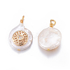 Natural Pearl Pendants PEAR-L027-52A-2