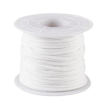 Flat Nylon Elastic Band for Mouth Cover Ear Loop, Mouth Cover Elastic Cord, DIY Disposable Mouth Cover Material, with Spool, White, 2.5~3mm; about 20m/roll