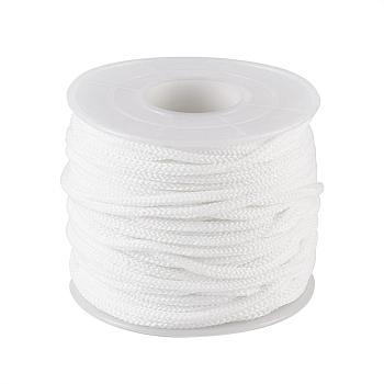 Round Nylon Elastic Band for Mouth Cover Ear Loop, Mouth Cover Elastic Cord, DIY Disposable Mouth Cover Material, with Spool, White, 2mm; about 20m/roll