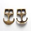 Tibetan Style Alloy Hook ClaspsX-TIBEP-35682-AB-NR-1