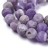 Natural Amethyst Beads StrandsX-G-I288-A01-8mm-3