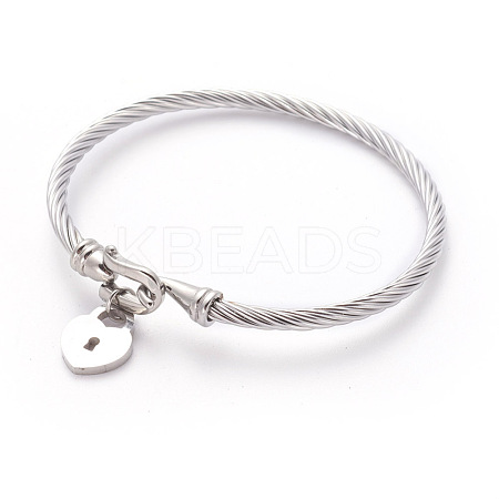 304 Stainless Steel Charm BanglesBJEW-L642-24P-1