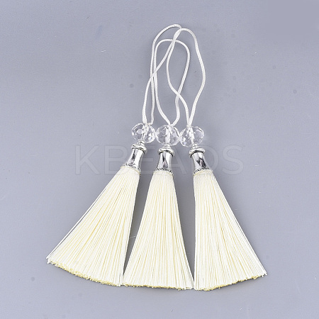 Polyester Tassel Big Pendant Decorations FIND-T055-29-1
