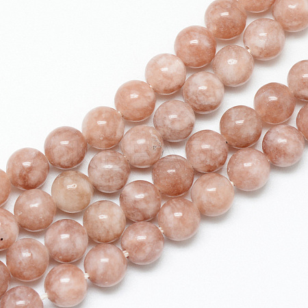 Natural Sunstone Bead Strands X-G-R345-6mm-31-1