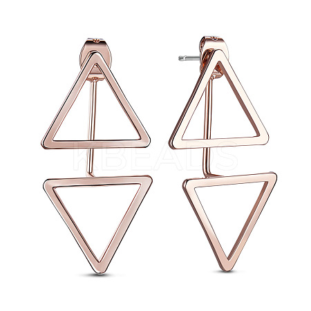 SHEGRACE® Simple Fashion Real Rose Gold Plated Stud Earrings JE352A-1