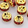 Rondelle Golden Brass Grade A Rhinestone Spacer Beads RB-F016-17G-NF-1