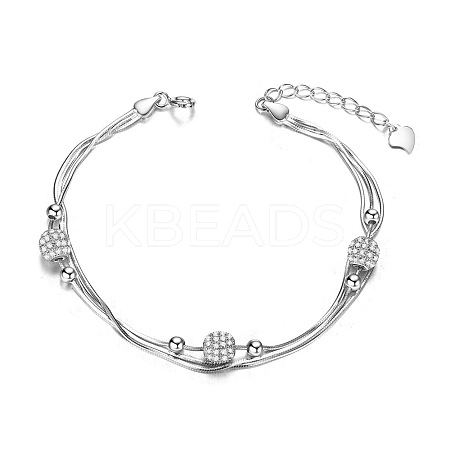 SHEGRACE® Fabulous 925 Sterling Silver Layered BraceletJB223A-1
