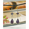 Trendy Glass Drop Dangle Earrings EJEW-JE00530-3