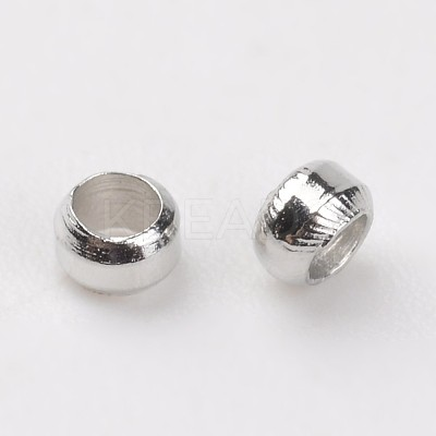 Brass Crimp BeadsE002-1