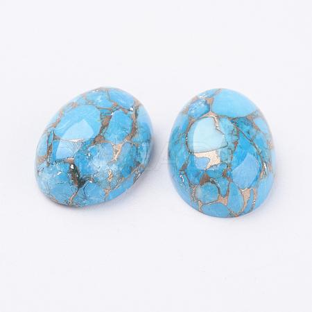 Natural Turquoise CabochonsG-E414-01-1
