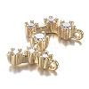 Brass Micro Clear Cubic Zirconia PendantsZIRC-F120-019G-05-3