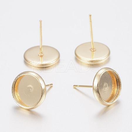 304 Stainless Steel Stud Earring SettingsX-STAS-H436-20C-1