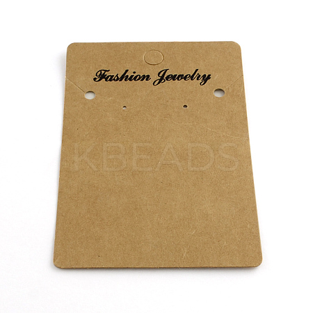 Rectangle Shape Cardboard Earring Display CardsX-CDIS-Q001-42-1