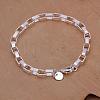 Fashionable Brass Box Chain Bracelets For WomenBJEW-BB12565-1