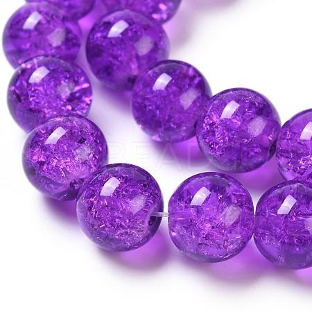 Crackle Glass Beads StrandsX-CCG-Q001-10mm-12-1