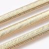 Vacuum Plating 304 Stainless Steel Herringbone Chain BraceletsBJEW-P235-20G-2