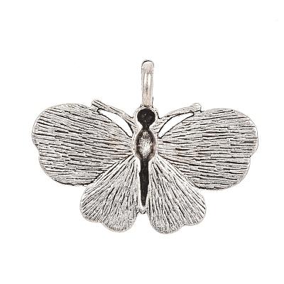 Antique Silver Plated Alloy Enamel PendantsENAM-J243-06AS-1