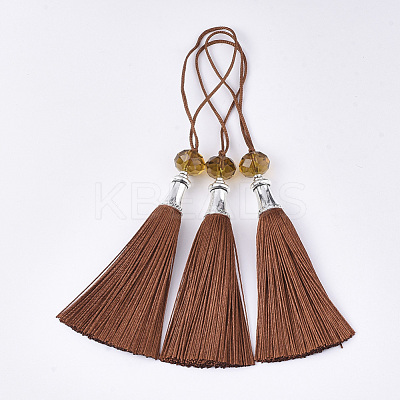 Polyester Tassel Big Pendant Decorations FIND-T055-14-1