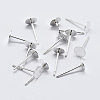 925 Sterling Silver Stud Earring Findings STER-K167-045D-S-2