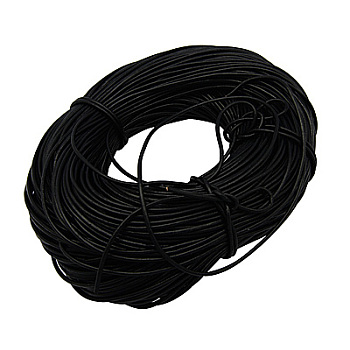 100M Cowhide Leather Cord, Leather Jewelry Cord, Black, 3mm